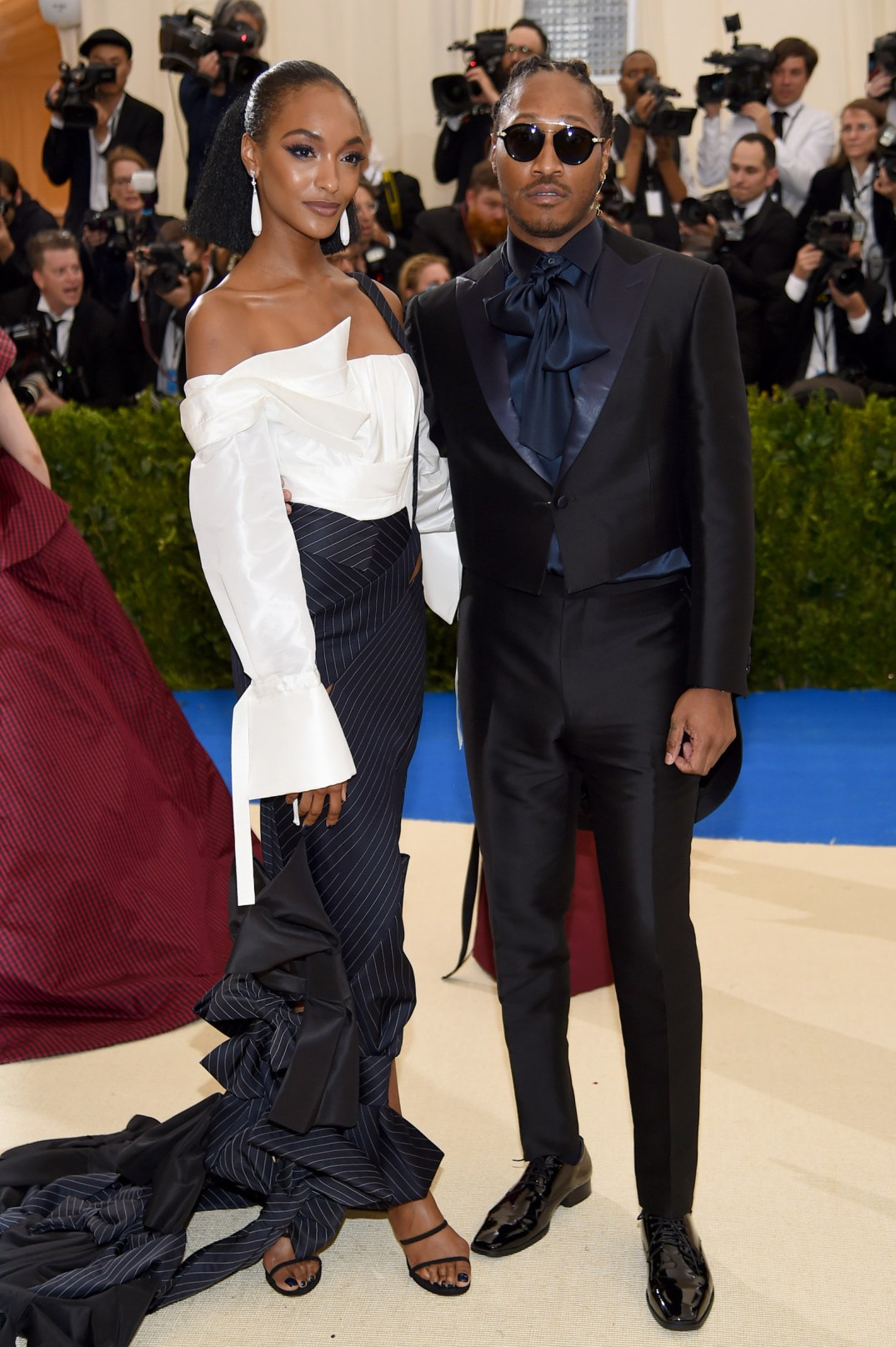 Jourdan Dunn and Future at Met Gala in HM