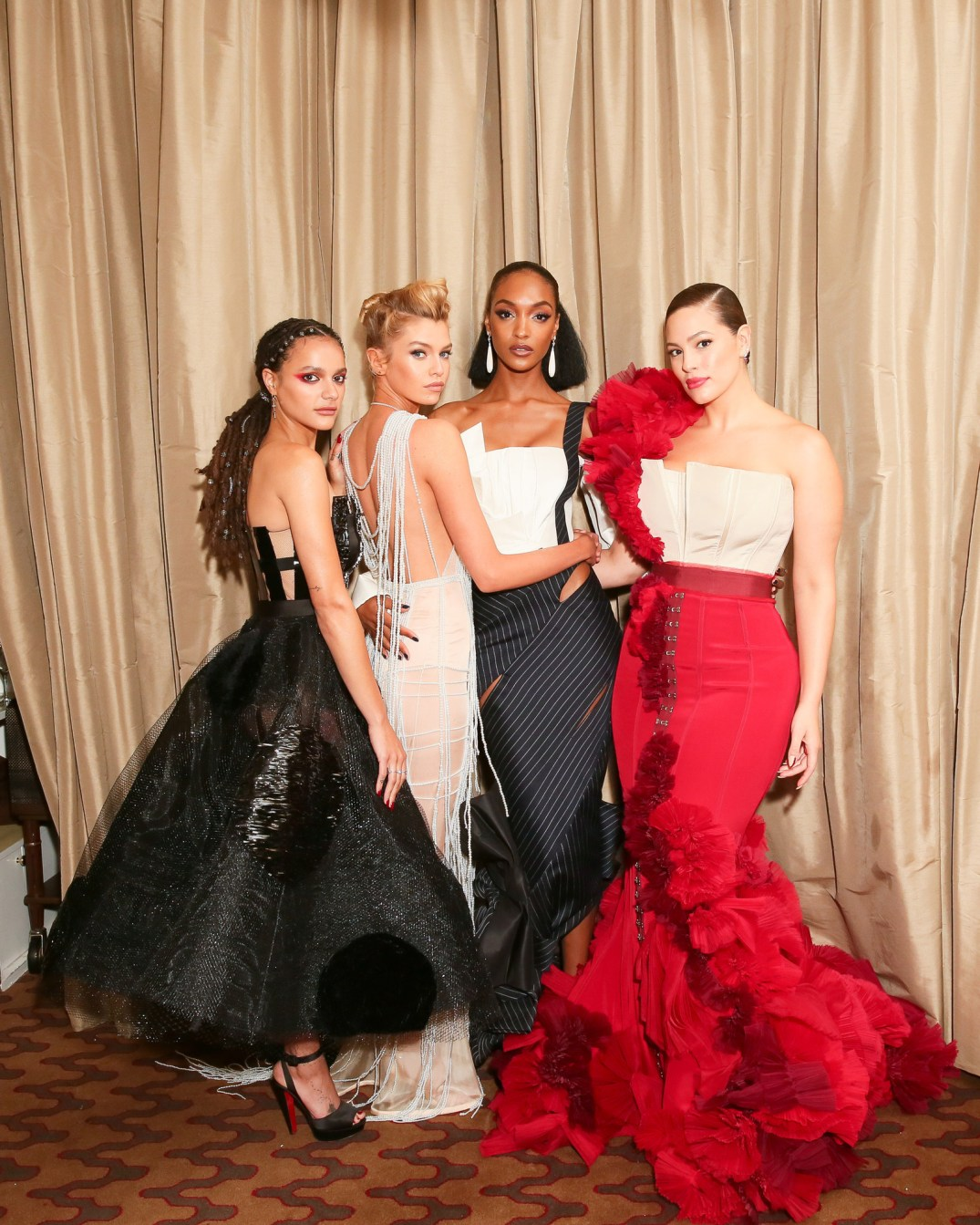Met Gala-Sasha Lane-Stella Maxwell-Jourdan Dunn-Ashley Graham