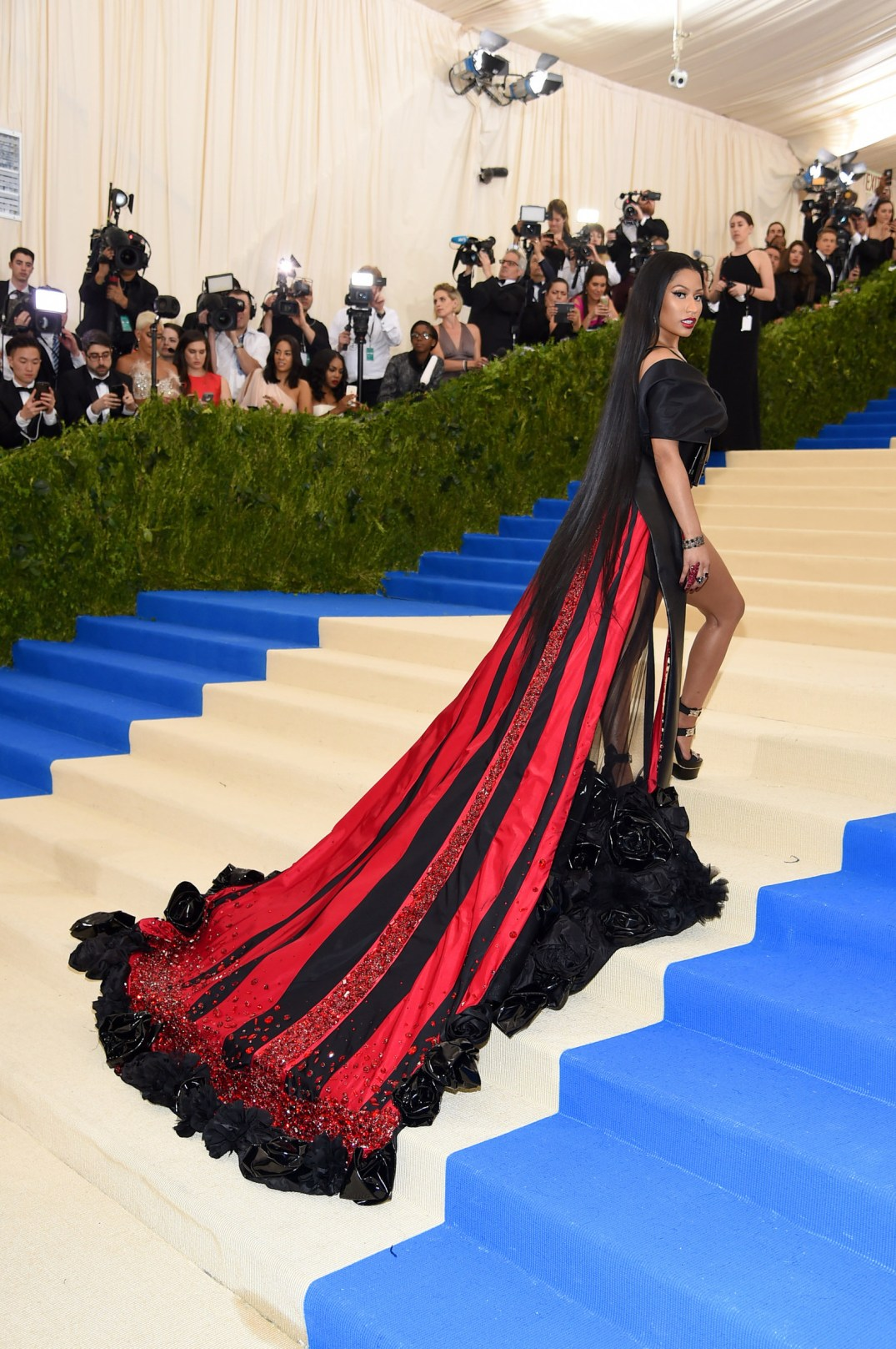 Nicki Minaj at Met Gala in HM dress